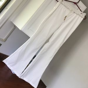 White boho style beach pants